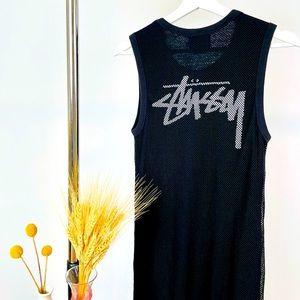 Stussy Mesh Midi Tank Dress